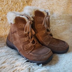 Bass Leather Faux Fur Boots